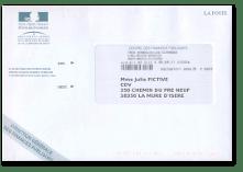 courrier publicitaire non numérisé